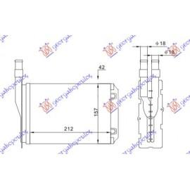 ΨΥΓΕΙΟ ΚΑΛΟΡΙΦΕΡ (M) +/-ΑC (212x157) για RENAULT 5 SUPER 85-95